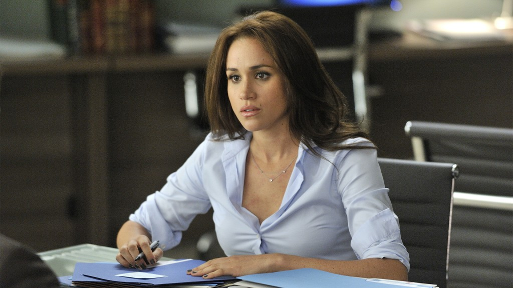 "Suits -- ""Zane vs. Zane"" Episode 213 -- Pictured: Meghan Markle as Rachel Zane -- (Photo by: Ben Mark Holzberg/USA Network)"
