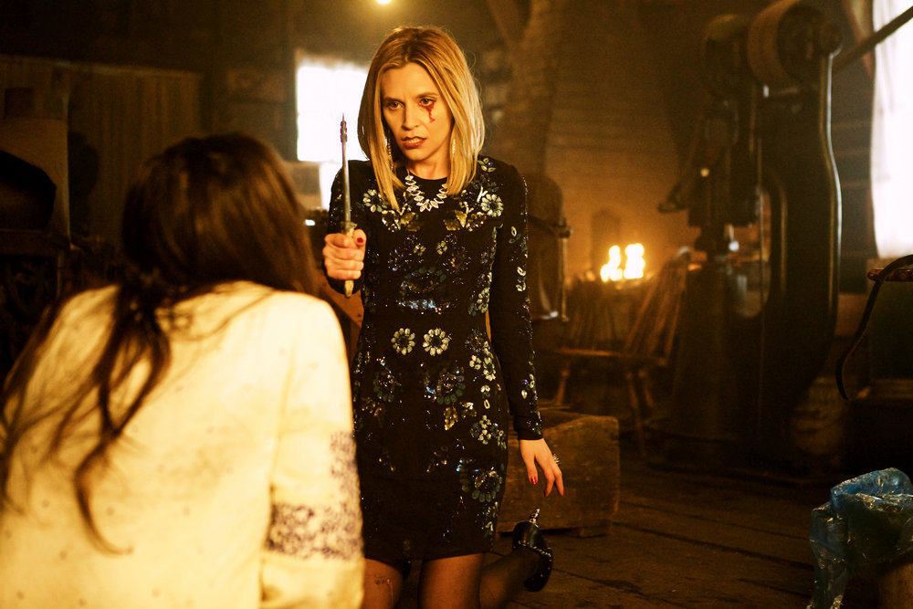 "WYNONNA EARP -- ""Walk After Midnight"" Episode 107 -- Pictured: Rayisa Kondracki as Constance -- (Photo by: Michelle Faye/Syfy/Wynonna Earp Productions)"
