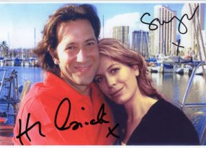 LOST iconic Desmond & Penny photo (a copy; not original), signed by Henry Ian Cusick and Sonya Walger. Available in 2016 charity auction.