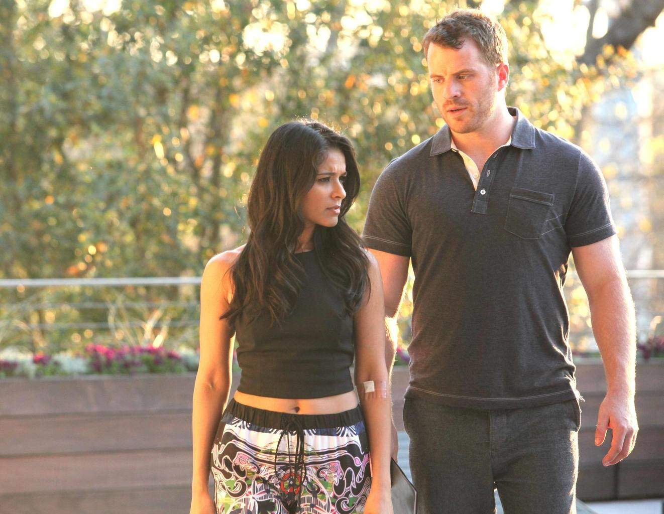 Dilshad and Rob Kazinsky in Second Chance.