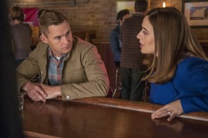 "CHICAGO P.D. -- ""Now I'm God"" Episode 310 -- Pictured: (l-r) Brian Geraghty as Officer Sean Roman, Marina Squerciati as Officer Kim Burgess -- (Photo by: Matt Dinerstein/NBC)"